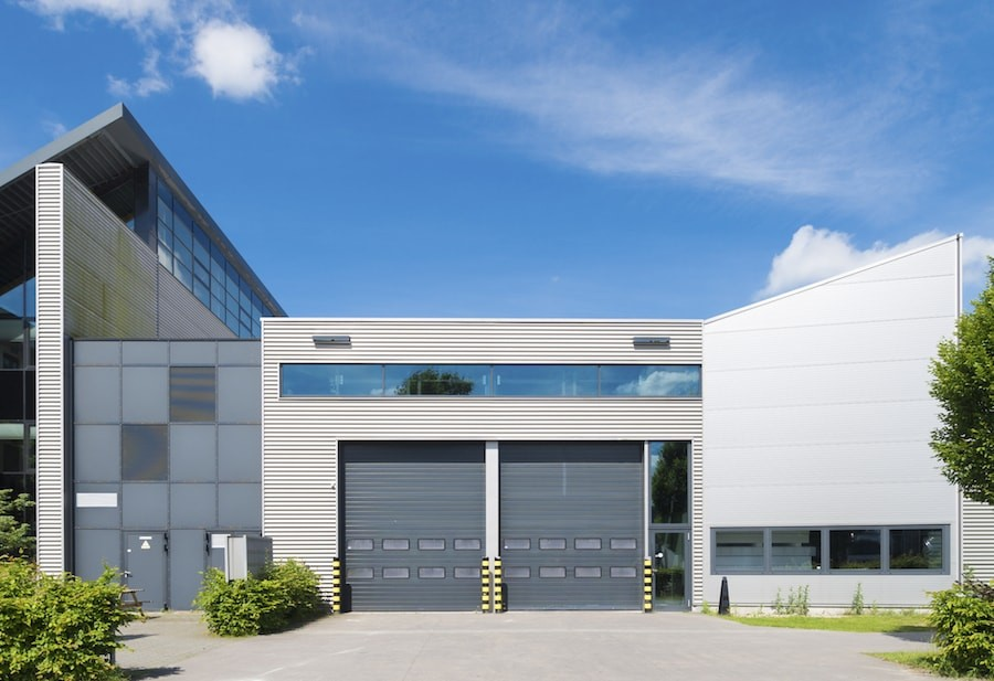 What kind of garage door is best for commercial use?