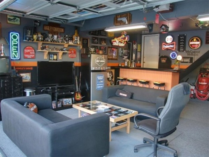 Garage envy ways to create a magnificent man cave